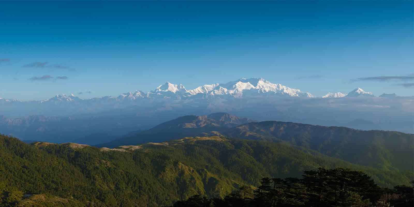View of Kanchenjunga in the  Himalayas