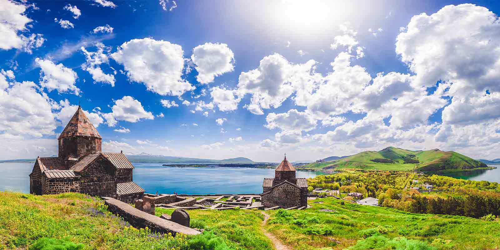 Sevan Temple on the shores of Lake Sevan
