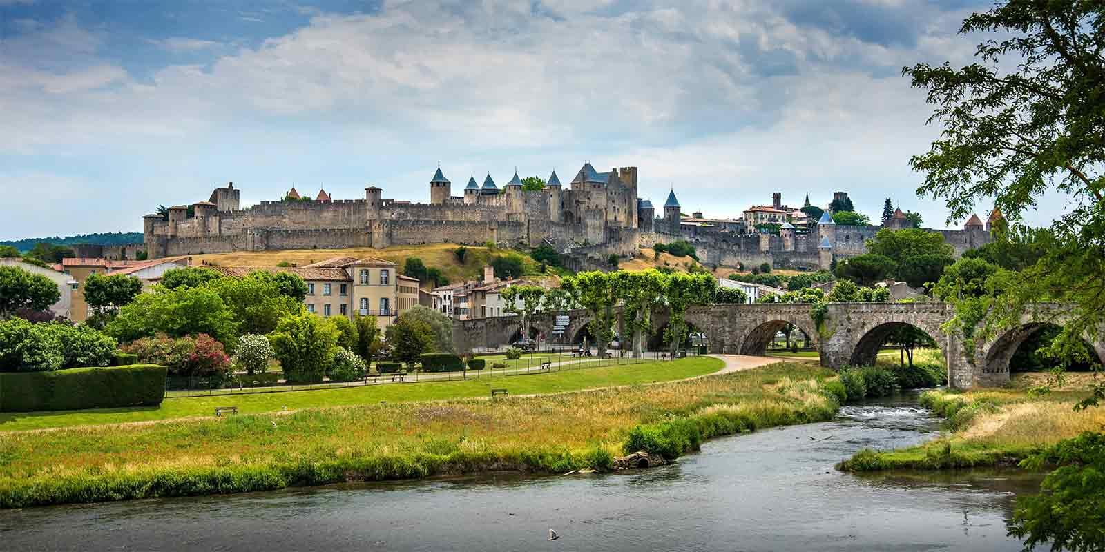 Carcassonne Castle overlooking the River Aude