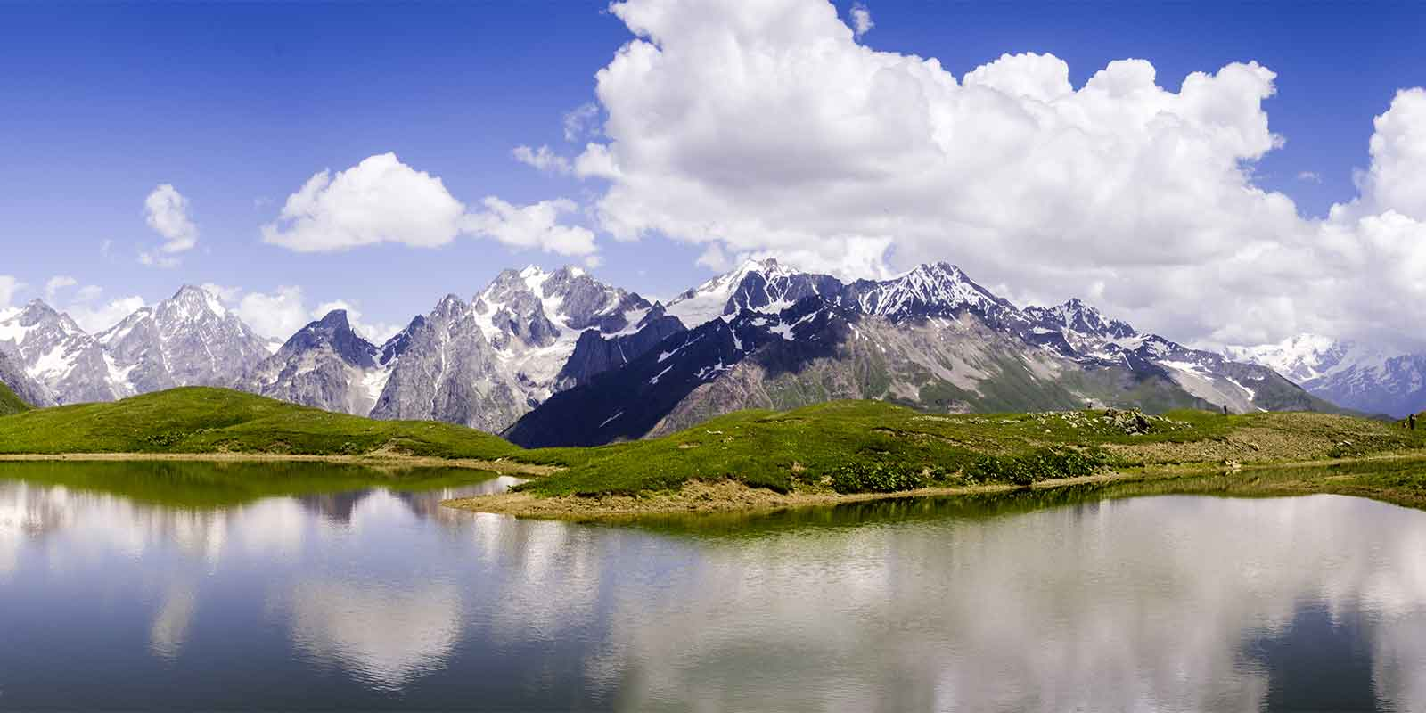 Koruldi Lake in the Caucasus mountains of Georgia