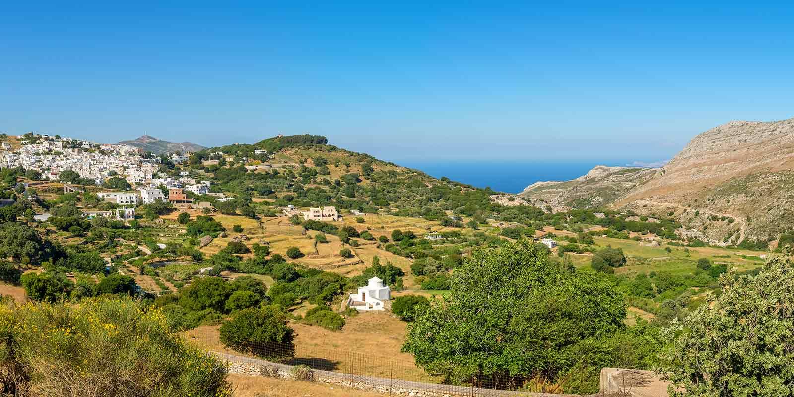 Mountain scenery on the Greek island of Naxos