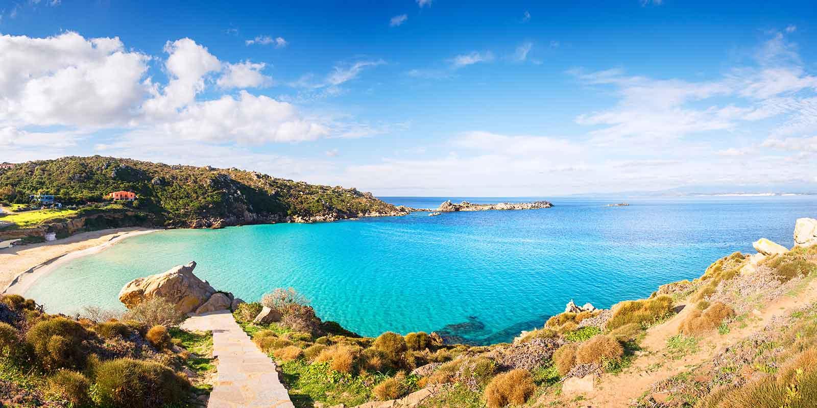 View over Santa Teresa beach in Sardinia