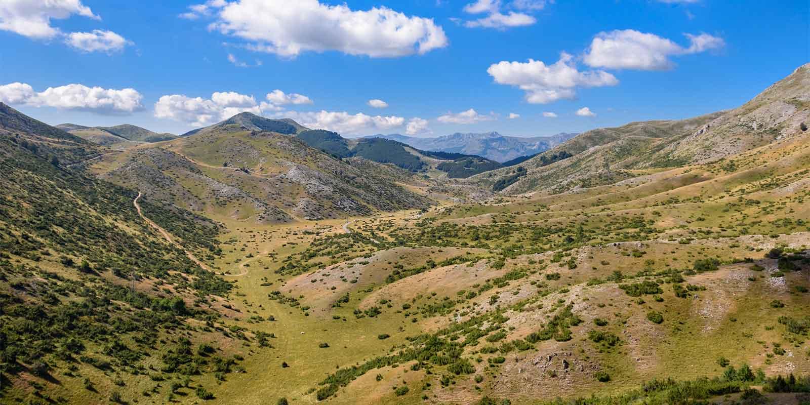 Mavrovo National Park near Medenica Peak in Macedonia