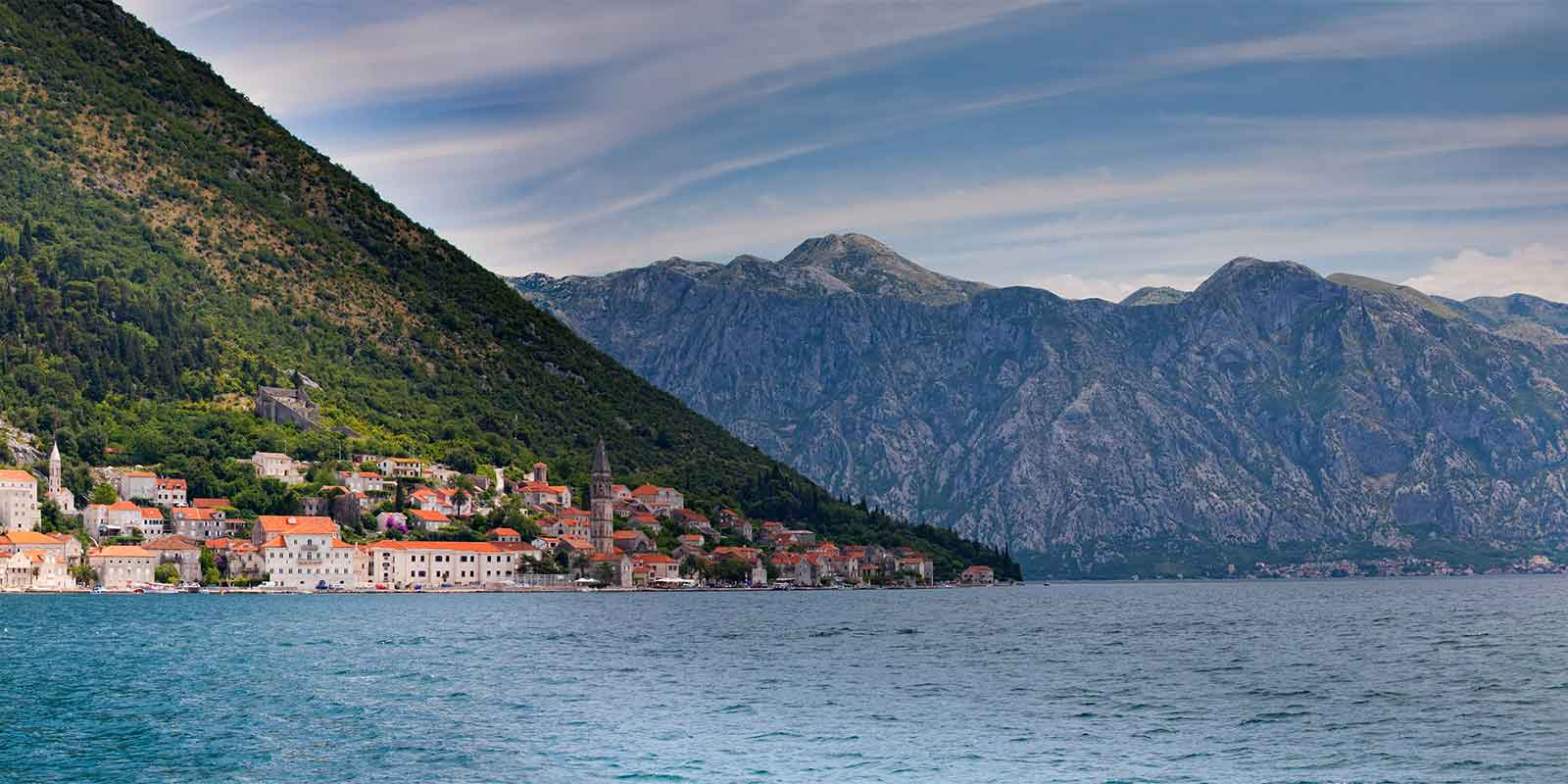 Bay of Kotor and Island of St George in Montenegro