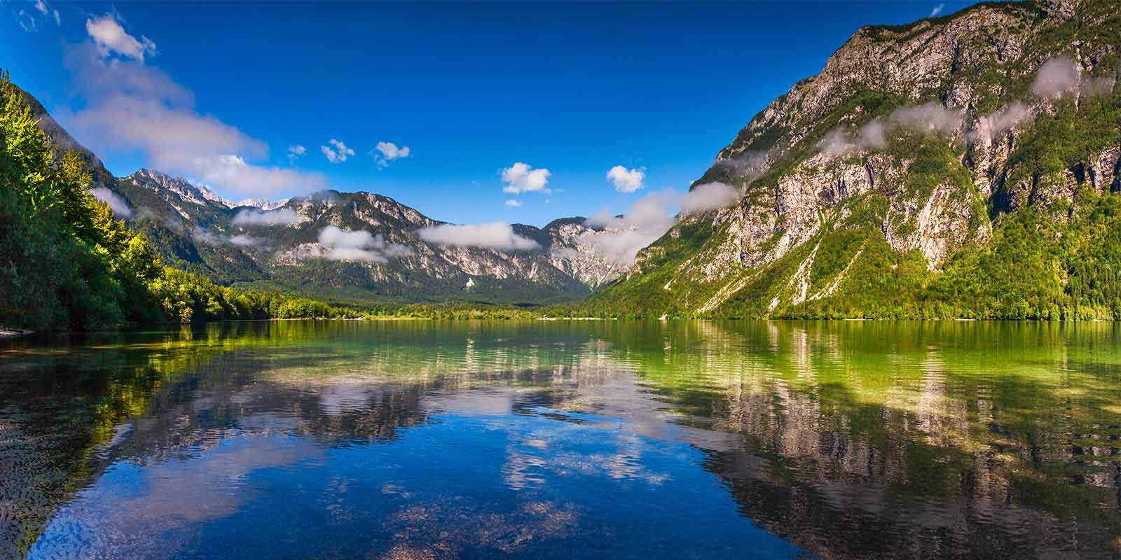 Bohinj Lake in Triglav National Park in Slovenia
