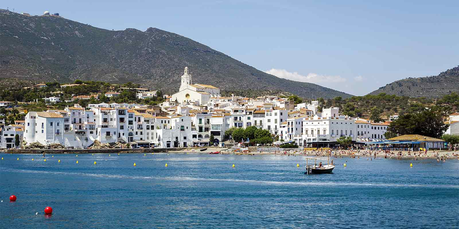 Town of Cadaques on the Catalan coast