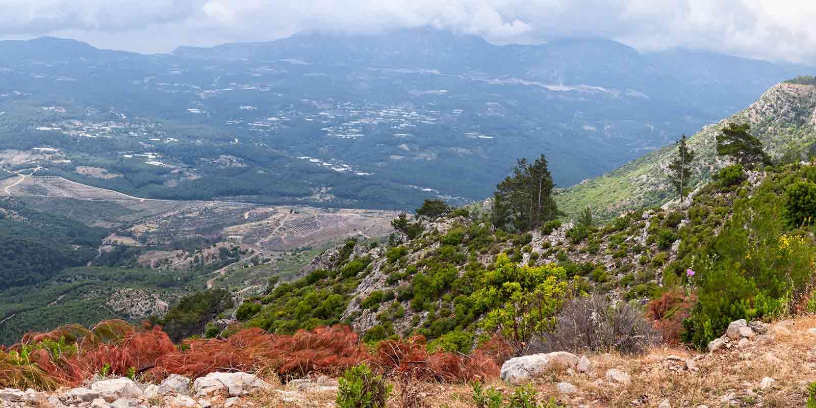 Typical mountain scenery of Turkey's Lycian Way