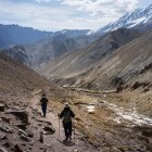 Two trekkers in the Markha Valley of Ladakh