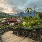 Village near Vang Vieng Laos