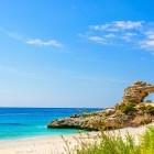 Dhermi beach on the Ionian sea