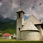 Stone church in Thethi Valley Albania