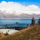 Scenic Lake Sevan in Spring