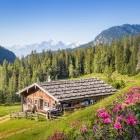 Mountain hut in the Austrian Alps near Salzburg