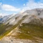 Hiker on Pirin Mountains in Bulgaria