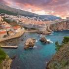 Dubrovnik harbour in Croatia