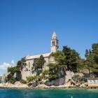 Franciscan monastery on the island of Lopud in Croatia