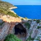 Odysseus Cave on Mijet Island in Croatia
