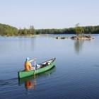 Canoeing on Saima Lake in Finland