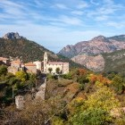 Mountain village on the island of Corsica