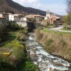 Montsegur village on the Cathar walking trail
