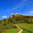 Trail to Montsegur Cathar castle in France