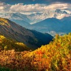 Autumn colour in the Caucasus mountains in Georgia
