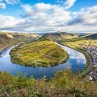 Calmont loop in the Mosel River in Germany