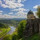 Koenigstein Castle in Saxon Switzerland National Park