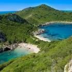 Porto Timoni beach in Corfu