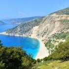 Myrtos beach on the Greek island of Kefalonia