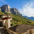 Mountain village of Mikro Papigko in Greece