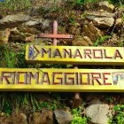 Signpost for the Cinque Terre trail