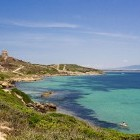 Beach and cove on Sinis Loop hiking trail in Sardinia