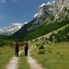 Hikers in Ropojana Valley in Montenegro