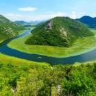Rijeka Crnojevica River, part of Skadar Lake National Park in Montenegro