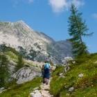 Hikers in Triglav National Park in Slovenia