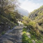Hikers in Poqueira Gorge in Andalucia
