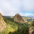 Ojila Cliff near Garajonay Park on island of La Gomera in the Canary Islands