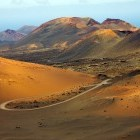 Timanfaya National Park in Lanzarote in the Canary Islands