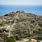 Coastal cliff top in Cap de Creus National Park in Catalonia