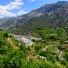 Aerial view of Trevelez village in the Alpujarras