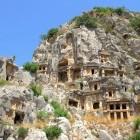 Lycian rock cut tombs of Myra