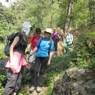 Trekkers in Darjeeling