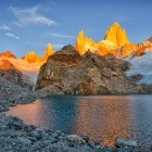 Sunrise over Fitz Roy mountain in Los Glaciares National Park