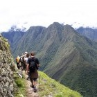 Hikers on the Inca Trail in the Sacred Valley