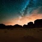 Starry sky at Wadi Rum desert in Jordan