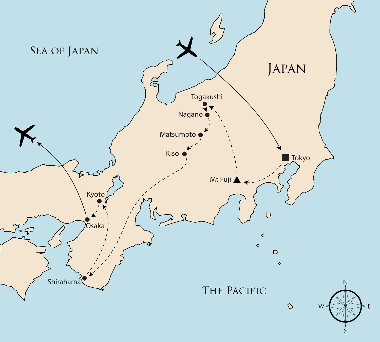Ancient Map Of Japan.Walking Holidays In Japan Ancient Trails Of Japan Group Tour