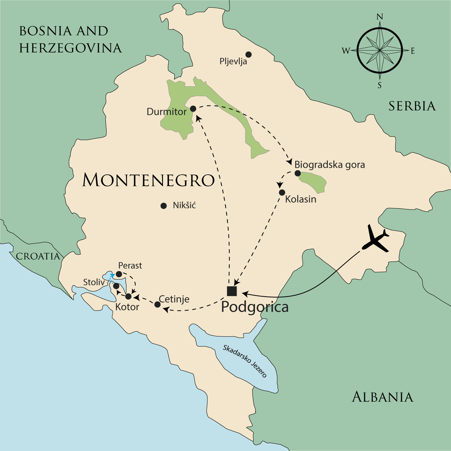 Walking Holidays In Montenegro Montenegro On Foot Self Guided