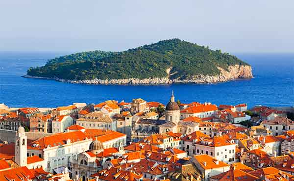 View of Dubrovnik in Croatia