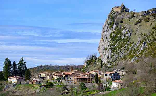 Cathar castle of Roquefixade in the Pyrenees